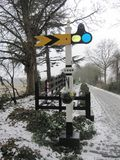 Railway Signals Royalty Free Stock Photography