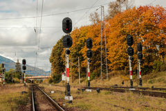 Railway Signals Royalty Free Stock Images