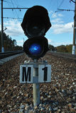 Railway signs and equipment Royalty Free Stock Photography