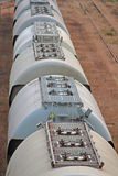 Railway silos. Silo-Wagons for Transport by Railway Royalty Free Stock Photo
