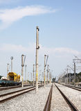 Railway site - RAW format Stock Image