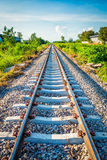 Railway with sky and cloud in thailand Royalty Free Stock Images