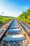 Railway with sky and cloud in thailand Royalty Free Stock Photography