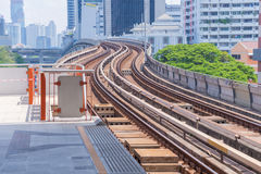 Railway at sky train in Bangkok Thailand Stock Images