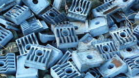 Railway sleeper clips Royalty Free Stock Photos