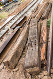 Railway sleepers Stock Images