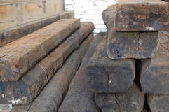 Railway sleepers Stock Photos
