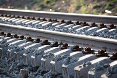 Railway sleepers from below Stock Photos