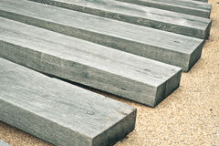 Railway sleepers Royalty Free Stock Photo