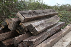 Railway sleepers Royalty Free Stock Image