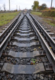 Railway sleepers and rails with_3 Royalty Free Stock Photography