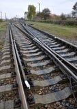Railway sleepers and rails Stock Image