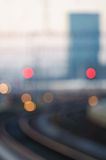 Railway - Soft focus. Soft focus view of the railway station in Zurich, Switzerland Royalty Free Stock Image