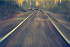 Railway with speed Stock Images