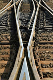 Railway split royalty free stock photos