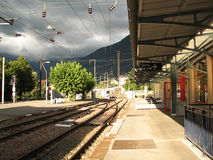 Railway Station. In Saint-Gervais-les-Bains, France Stock Photography