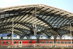 Railway Station. In Cologne, Germany Royalty Free Stock Image