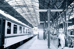 Railway station. Royalty Free Stock Photo