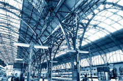 Railway station. Stock Photo