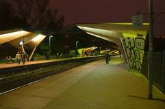 Railway station Stock Images