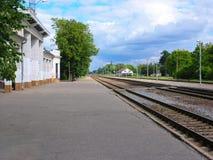 Railway station Stock Photography
