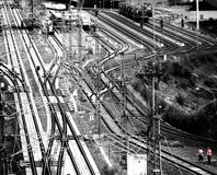 Railway station. Shot of trains and railway station stock photography