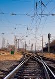 Railway station. V ochakvane na sledvashtiya vlak na zhp gara Shumen Royalty Free Stock Photography