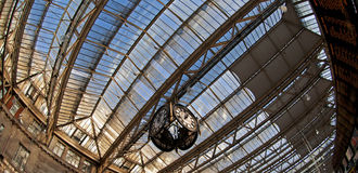 Railway Station. A fisheye view of a Railway Station in London (Waterloo Stock Photography