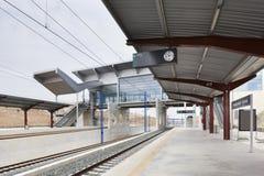 Railway station Stock Image