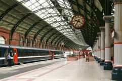 Railway Station. Platform in a railway station Stock Images