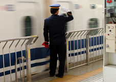 Railway station activities. An aspect from Kyoto Railway Station,Japan Royalty Free Stock Images