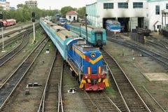 Railway station. Stock Photos