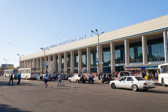 Railway station Almaty-1 Stock Images