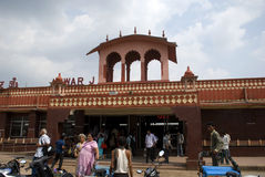 Railway station, Alwar, Rajasthan, India Stock Photography