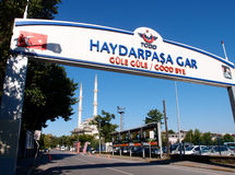 Railway station. Ancient railway station called Haydarpasa in Istanbul, Turkey Stock Photography