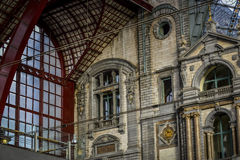 Railway station antwerp, belgium Stock Photos