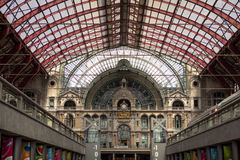 Railway station in Antwerpen Belgium Royalty Free Stock Photography