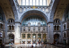 Railway station in Antwerpen Belgium. Stock Image