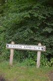 Railway station approach sign. Stock Photos