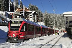 Railway Station in Arosa Stock Photos