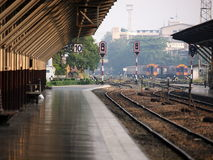 Railway station in Bangkok Thailand Royalty Free Stock Photography