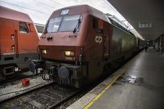 Railway Station in Belgium stock photos