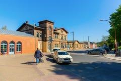 Railway station in Bergen auf Ruegen, Germany Royalty Free Stock Images