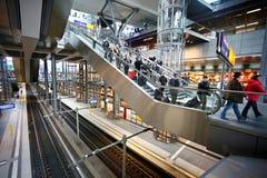 Railway station Berlin. From inside stock photos