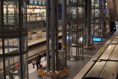 Railway station Berlin from inside. Stock Photos