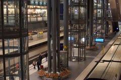 Railway station Berlin from inside. Stock Photos
