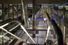 Railway station Berlin from inside. Royalty Free Stock Image