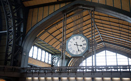 Railway station big clock Stock Images