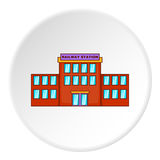 Railway station building icon, cartoon style Royalty Free Stock Images