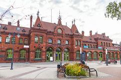 Railway station building in Malbork, Poland Royalty Free Stock Photo